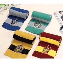 Lote 3 Bufanda Harry Potter Slytherin, Hufflepuf, Ravenclaw