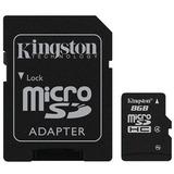 Cartão De Memória Micro Sd 8gb Transflash + Adaptador
