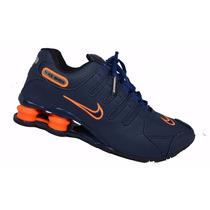 Tenis Nike Shox Nz Em Couro 4 Molas Foto Original Na Caixa