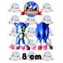 Figura Sonic Plástico Resistente Mide 8 Cm