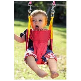 Hamaca De Tela Para Bebés +2 Sogas De 2,5 Mt. 6 A 36 Meses