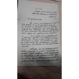 Carta Original Manusc De Puño Y Letra Del Gral. J. D. Perón