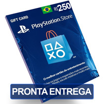 Cartão 250 Reais Psn Plus Playstation Brasil Brasileira Br