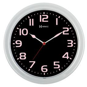 Relógio 660016 Parede 28cm Rosa Baby Fluorescente Herweg