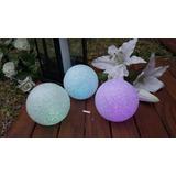 12 Velas Led Esfera 10 Cms 7 Colores Centros De Mesa Eventos