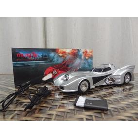 Batmovel Caixinha Som Portátil Carro Mp3 Micro Sd Usb Fm