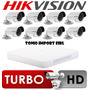 Kit 8 Camaras De Seguridad Hikvision Turbo Hd 720p P2p 2016