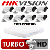 Kit 8 Camaras De Seguridad Hikvision Turbo Hd 720p P2p 2017