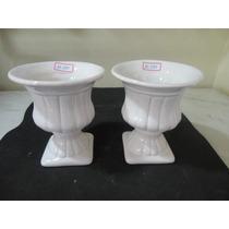 #10390 Par De Vasos Romanos Em Porcelana Pequenos!!!