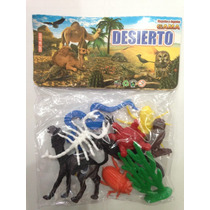 Animales Del Desierto Buho Nopal Camello Tortruga Maquetas