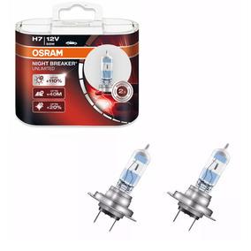 Lampada Osram Night Breaker Unlimited H7 Par Farol 110%+ Luz