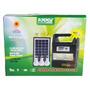 Kit Placa Solar Rádio Fm Usb Bateria + 3 Lampadas Led Bulbo