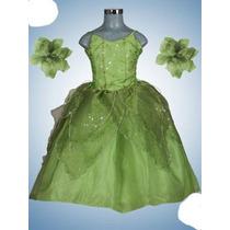 Vestid Princesa Disfraz De Campanita Desmontable