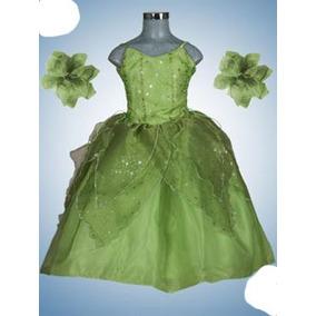 Vestid Princesa Disfraz De Campanita Desmontable Talla 4,6,8
