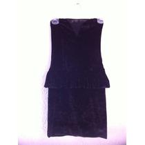Vestido Negro Bershka T28