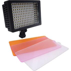 Iluminador 160 Leds Profissional Para Filmadora Vídeo E Dslr