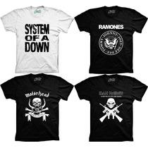Camiseta Banda De Rock Addc Nirvana Ramones Soad Redhot Cone