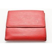Cartera Louis Vuitton 100% Original Epi Red Purse Unisex