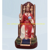 Imagem Jesus Cristo Rei De Israel Dos Judeus Estatua 20cm