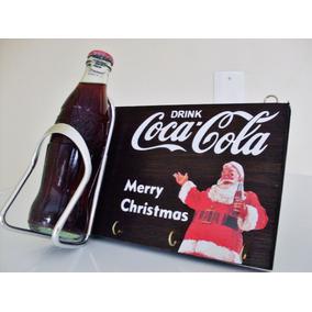 Porta Chaves De Parede Coca Cola Natal Merry Christmas