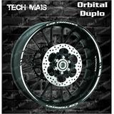 Kit Adesivo Refletivo Cb Twister Personalizado Orbital Duplo