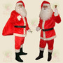 Roupa Fantasia De Papai Noel Veludo P Festa De Natal Kit 7pç