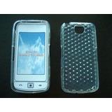 Capa Tpu + Película Plás Celular Smartphone Lg Gm600 Scarlet