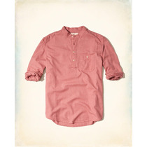 Hollister Camisa Oxford Tipo Polo Cuello Talla L Originales