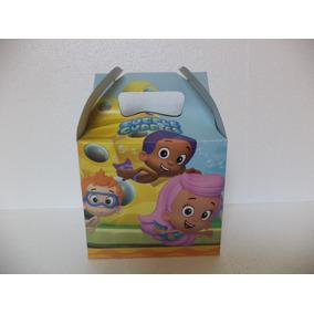 Dulceros Bubble Guppies Fiestas 10 Cajas Carton Recuerdos