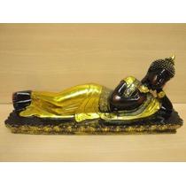 Buda Tailandes Recostado Grande 37cm Hermoso!