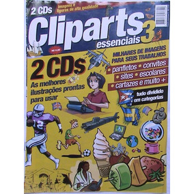 Revista Cliparts Essenciais Nº 03 + 2 Cd-roms Digerati