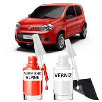 Tinta Tira Risco Automotivo Fiat Uno Cor Vermelho Alpine
