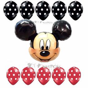 Globo Mickey Mouse, Globo Polka Puntitos,fiesta