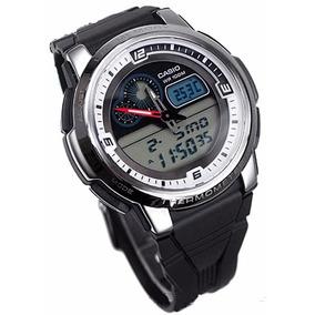 Relógio Casio Aqf-102 W Lap Memory Hora Mundial Termômetro B