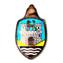 Blazon Emblema Cofre De Vw Sedan Vocho Azul Y Amarillo