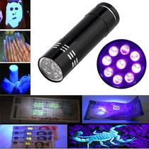 Mini Linterna Ultravioleta, 9 Leds, Billetes Falsos