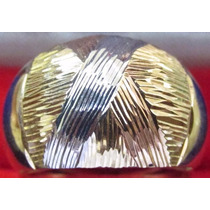 Anel Ouro 18k 750 Amarelo Vermelho Branco Christianjoias.net
