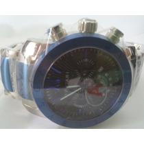 Relógio Iron Man Bateria Prata Azul Queima De Estoque 12 X