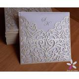 [modelo 20] - 30 Tarjetas Caladas Invitación Casamiento 15