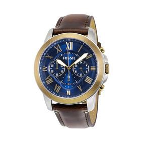 Relógio Masculino Fossil Grant Fs5150/5an Pulseira De Couro