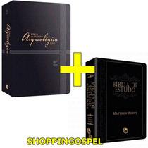 Bíblia De Estudo Arqueológica Nvi Luxo + Bíblia Mattew Henry
