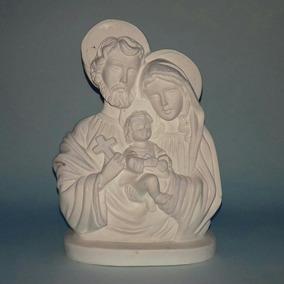 Sagrada Família 20cm Kit Com 10 Imagens Em Gesso Cru Atacado