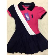 Vestido Polo Ralph Lauren Infantil Lindo Pronta Entrega