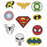 Matriz De Bordado Computadorizado 13 Logos Super Heróis