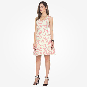 Vestido Feminino Malwee 47301 Evasê - Viscose Strecht