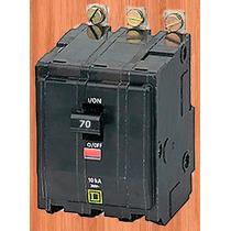 Interruptor Termico Qob 3 X 70 Amp Mod Qob370 Square D