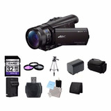 Sony Fdr-ax100 4k Ultra Hd Camcorder - Black 32gb Kit