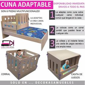 Cuna Corral Camacuna Adaptable Y Casita De Juegos