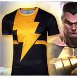 Camisa Black Adam O Adão Negro Rival Shazam Dc Comics Heroes
