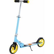 Patinete 2 Rodas Radical Infantil E Teen 100kg Azul Dobravel